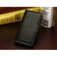 Кожаный чехол портмоне (нат. кожа) для HTC Desire 700 Черный