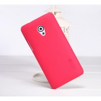 Пластиковый матовый премиум чехол для HTC Desire 700 Красный