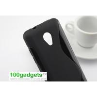 Силиконовый чехол S для HTC Desire 700 Черный