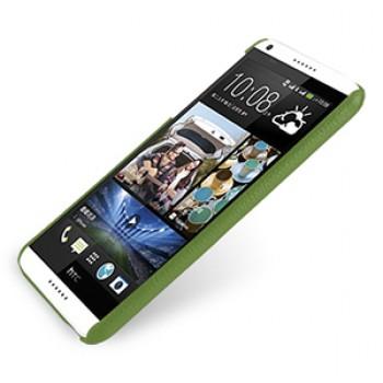 Кожаный чехол накладка серия Back Cover (нат. кожа) для HTC Desire 816 зеленая