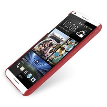 Кожаный чехол накладка серия Back Cover (нат. кожа) для HTC Desire 816 красная