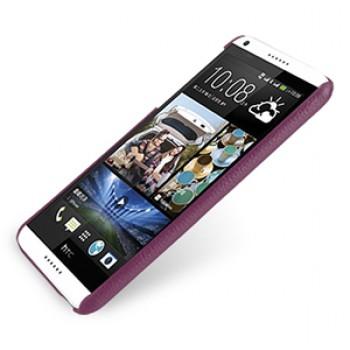 Кожаный чехол накладка серия Back Cover (нат. кожа) для HTC Desire 816 фиолетовая