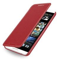 Кожаный чехол книжка горизонтальная (нат. кожа) для HTC Desire 816 красная