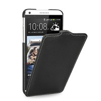 Кожаный чехол книжка вертикальная (нат. кожа) для HTC Desire 816 черная