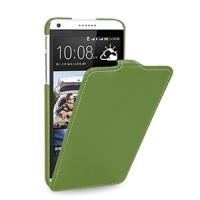 Кожаный чехол книжка вертикальная (нат. кожа) для HTC Desire 816 зеленая