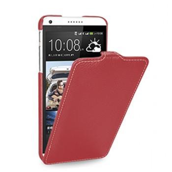 Кожаный чехол книжка вертикальная (нат. кожа) для HTC Desire 816 красная