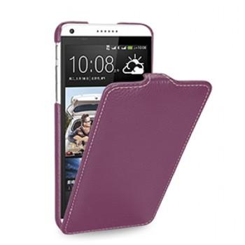 Кожаный чехол книжка вертикальная (нат. кожа) для HTC Desire 816 фиолетовая