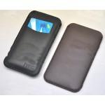 Кожаный мешок с внешним карманом для HTC Desire 816