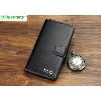 Кожаный чехол портмоне (нат. кожа) для HTC Desire 816 Черный