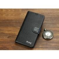 Кожаный чехол портмоне (нат. кожа крокодила) для HTC Desire 816