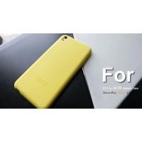 Силиконовый чехол софт-тач премиум для HTC Desire 816 Желтый