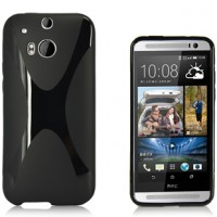 Силиконовый чехол X для HTC One 2 Черный