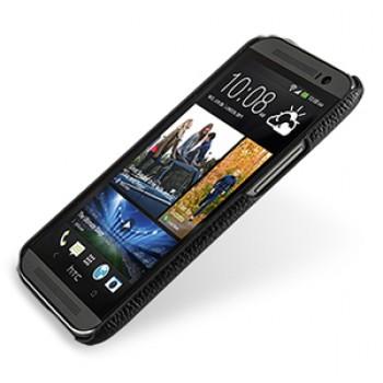 Кожаный чехол накладка серия Back Cover (нат. кожа) для HTC One 2 черная