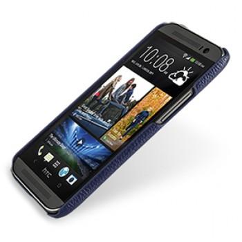 Кожаный чехол накладка серия Back Cover (нат. кожа) для HTC One 2 синяя