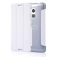 Чехол флип подставка сегментарный для HTC One Max Белый