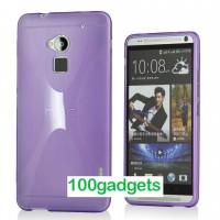 Силиконовый чехол X для HTC One Max Фиолетовый
