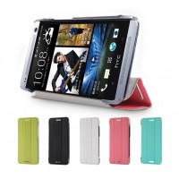 Чехол флип подставка сегментарный для HTC One Mini