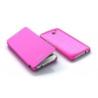 Оригинальный чехол флип для Huawei Ascend D2 Розовый