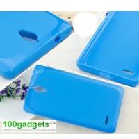 Силиконовый чехол для Huawei Ascend G700 Голубой