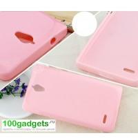 Силиконовый чехол для Huawei Ascend G700 Розовый