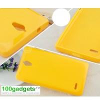 Силиконовый чехол для Huawei Ascend G700 Желтый