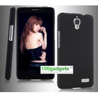 Пластиковый чехол для Alcatel One Touch Idol Черный