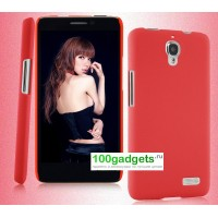 Пластиковый чехол для Alcatel One Touch Idol Красный
