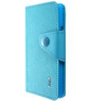 Чехол портмоне для Alcatel One Touch Idol Голубой