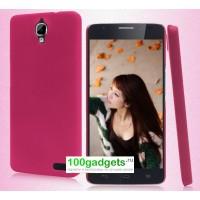 Пластиковый чехол для Alcatel One Touch Idol X Розовый