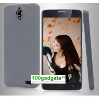 Пластиковый матовый чехол с повышенной шероховатостью для Alcatel One Touch Idol X Серый