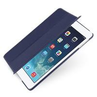 Кожаный чехол подставка (нат. кожа) 3-х сегментарный для Ipad Air 5 синий