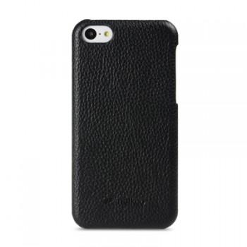 Кожаный чехол накладка Back Cover (нат. кожа) для Iphone 5c черная