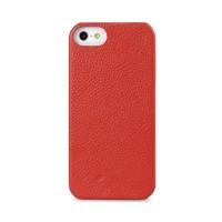 Кожаный чехол накладка Back Cover (нат. кожа) для Iphone 5c красная