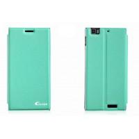 Чехол флип подставка клеевой серия Suction Power для Lenovo IdeaPhone K900 Зеленый