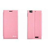 Чехол флип подставка клеевой серия Suction Power для Lenovo IdeaPhone K900 Розовый