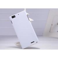 Пластиковый матовый премиум чехол для Lenovo IdeaPhone K900 Белый