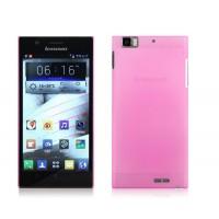 Пластиковый полупрозрачный чехол для Lenovo IdeaPhone K900 Розовый