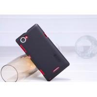 Пластиковый чехол премиум матовый для Sony Xperia L Черный