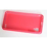 Силиконовый полупрозрачный матовый чехол для Lenovo P780 Ideaphone Красный