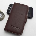 Кожаный чехол портмоне (нат. кожа) для Lenovo IdeaPhone S720