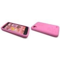 Силиконовый премиум чехол серия Circles для Lenovo IdeaPhone S720 Розовый