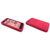 Силиконовый премиум чехол серия Circles для Lenovo IdeaPhone S720 Красный