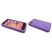 Силиконовый премиум чехол серия Circles для Lenovo IdeaPhone S720 Фиолетовый