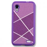 Силиконовый текстурный чехол серия Rays of light для Lenovo IdeaPhone S720 Фиолетовый