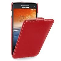 Кожаный чехол книжка вертикальная (нат. кожа) для Lenovo Vibe X S960 красная