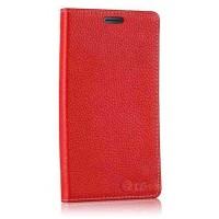 Кожаный чехол портмоне подставка (нат. кожа) для LG G Flex Красный