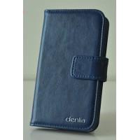 Чехол портмоне подставка для LG L70 Синий