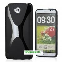 Силиконовый чехол X для LG G Pro Lite Dual Черный