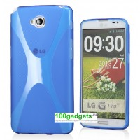 Силиконовый чехол X для LG G Pro Lite Dual Синий