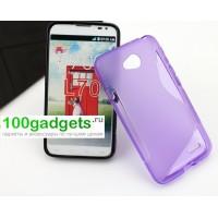 Силиконовый чехол S для LG L70 Фиолетовый